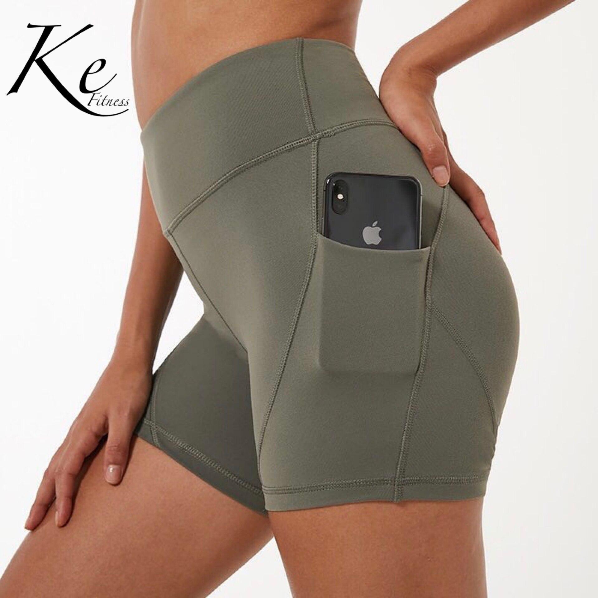 da pele da cintura alta calções de