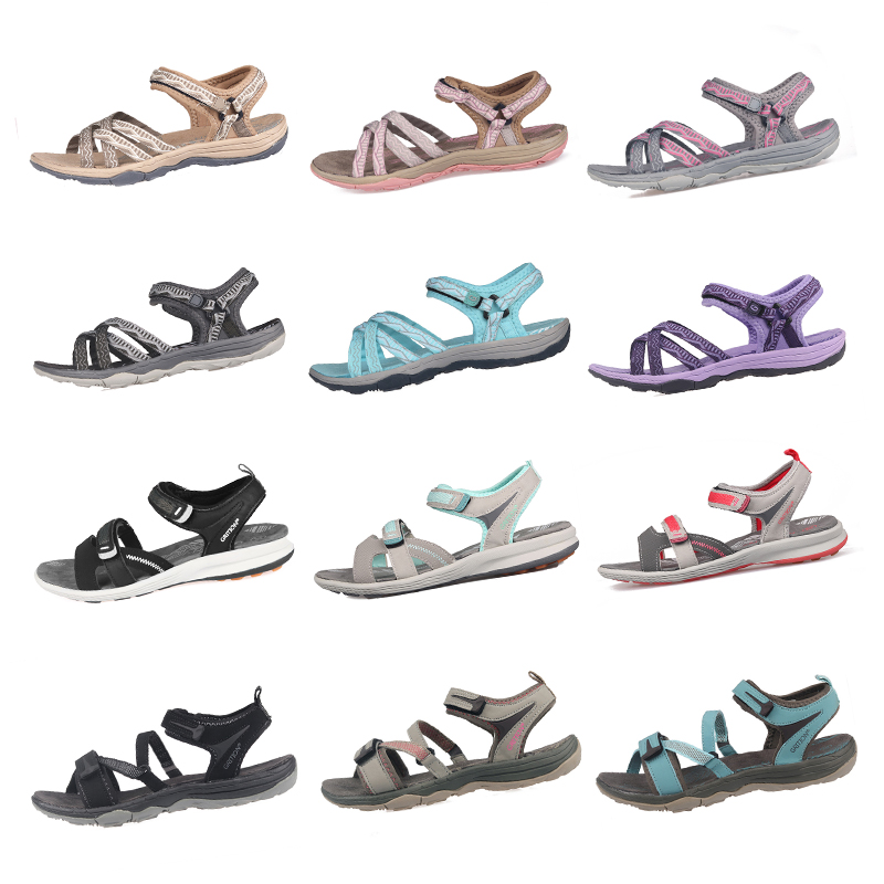 Image 2 - GRITION Beach Sandals Women Summer Outdoor Flat Sandals Ladies Open Toe Shoes 2020 Lightweight Breathable Walking Hiking Sandalsmujer zapatosmujer sportmujer shoes -