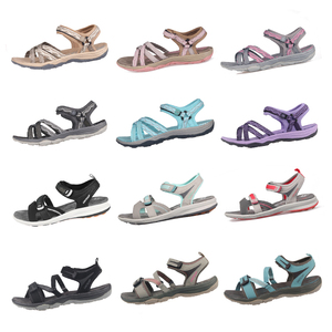 Image 3 - GRITION Beach Sandals Women Summer Outdoor Flat Sandals Ladies Open Toe Shoes 2020 Lightweight Breathable Walking Hiking Sandals