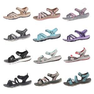 Image 3 - GRITION Strand Sandalen Frauen Sommer Outdoor Flache Sandalen Damen Offene spitze Schuhe 2020 Leichte Atmungsaktive Wanderschuhe Wandern Sandalen