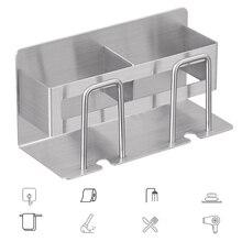 Home decor Toothbrush Holder, Stainless Steel Bathroom Storage Rack-Multifunctional Storing Toothpaste Cup bathroom Accessories