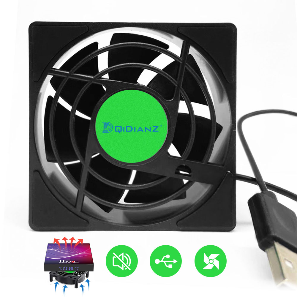 <font><b>USB</b></font> Cooling <font><b>Fan</b></font> For TV Box Wireless Wifi Router Smart Set-Top Box Silent Quiet Cooler DC <font><b>5V</b></font> <font><b>USB</b></font> Power 2500 RPM image