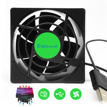 Ventilador de refrigeración USB para decodificador de TV, enrutador Wifi inalámbrico, decodificador inteligente, enfriador silencioso, CC, 5V, potencia USB, 2500 RPM