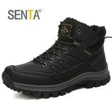 SENTA/Коллекция года; зимняя обувь; мужские ботинки; нескользящая водонепроницаемая обувь; плюшевые зимние ботинки; кроссовки; большие размеры 46; Zapatos De Hombre