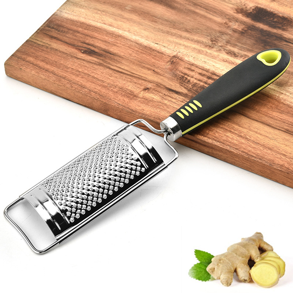 Терка для сыра из нержавеющей стали, домашняя кухонная терка для лимона, имбиря, картофеля, с эргономичной мягкой ручкой