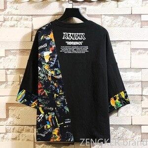 Image 2 - スーパー特大プラスサイズ潮ブラザー秋ルースラウンドネック半袖tシャツ厚い紳士服 10XL 11XL 9XL
