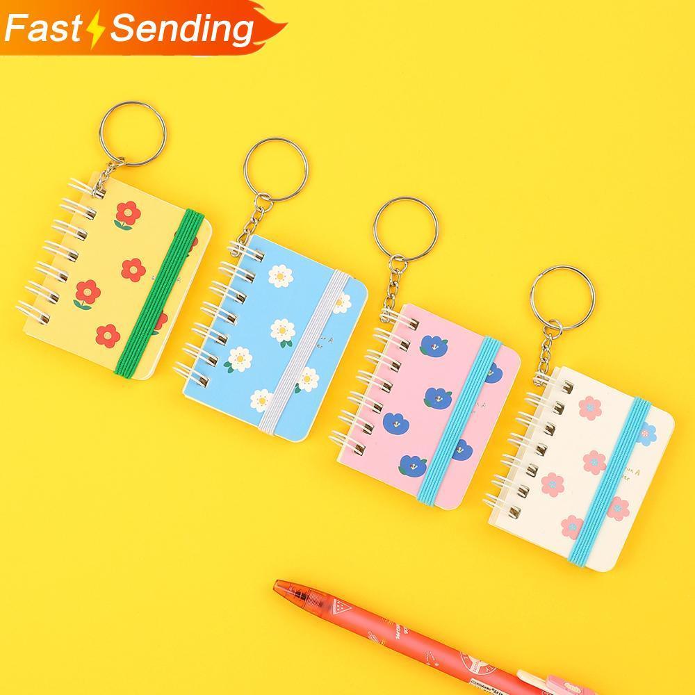 JIANWU Cartoon Cute Mini Coil Notebook With Key Ring Memo Pad Portable Draft Book Kawaii Notepad Student Stationery