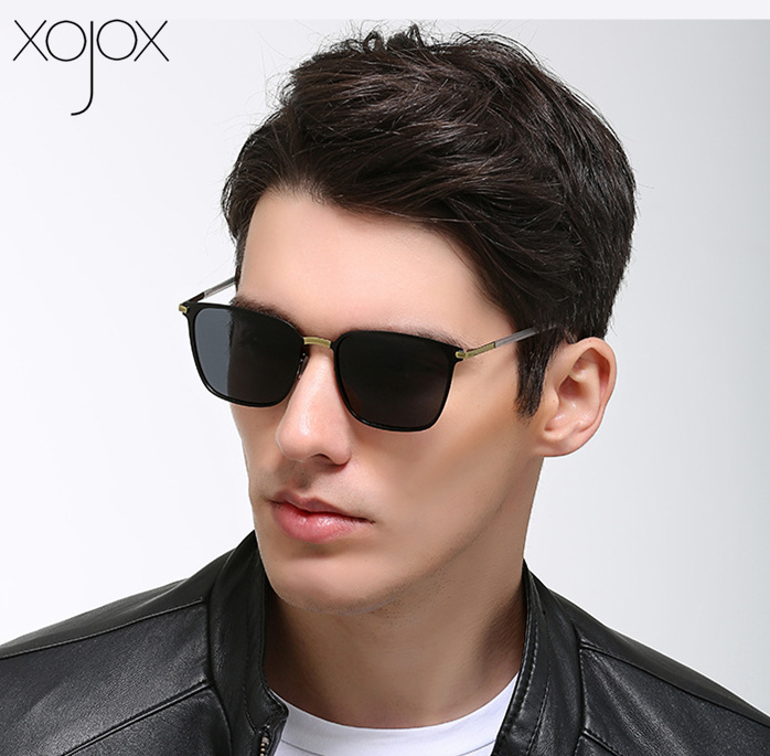 XojoX Square Polarized Sunglasses Men Vintage High Quality Goggles Driver Night Vision Sun Glasses Male Classic Outdoor Eyewear
