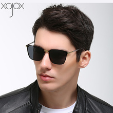 XojoX Square Polarized Sunglasses Men Vintage High Quality Goggles Driver Night