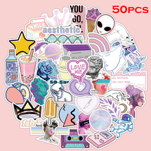 Steam-Wave-Stickers VSCO Toys Skateboards Luggage Water-Cups for PVC 50pcs/Pack