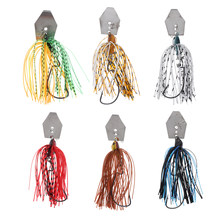 Silicone Jig Skirts Fishing Bait Accessories Jig Spinnerbaits Skirted Lures(China)
