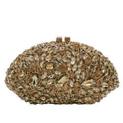Женские вечерние сумочки с цветами Boutique De FGG, элегантные сумочки-клатчи со стразами для коктейльной вечеринки, сумочки minaudier со стразами для ...