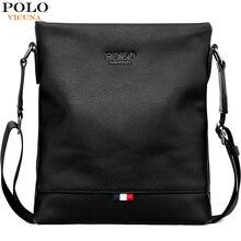 VICUNA POLO Classic Men Pure Color Messenger Bag With Back Pocket Man Handbag Beach Bag Black Casual Mens Crossbody Bag bolsa