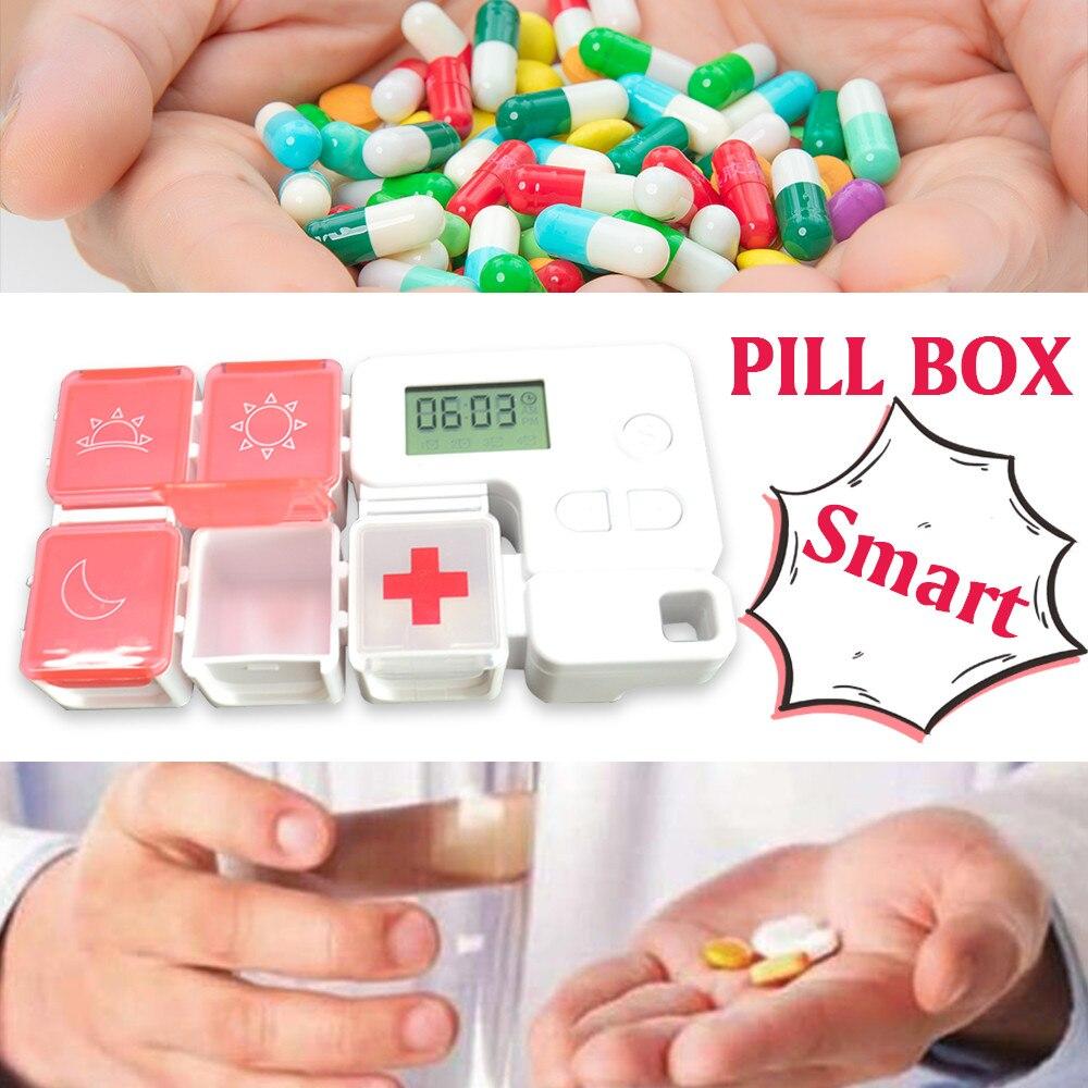 GREENWON Moisture-proof Pill Box Pills Organizer Case Portable Travel Drugs Storage Container Medicine Box