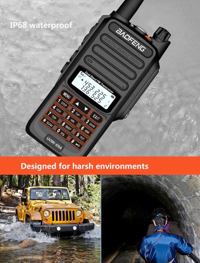 2020 IP68 Водонепроницаемая рация дальность действия 25 км baofeng uv-9r ERA plus cb ham Радио hf приемопередатчик UHF VHF радиостанция