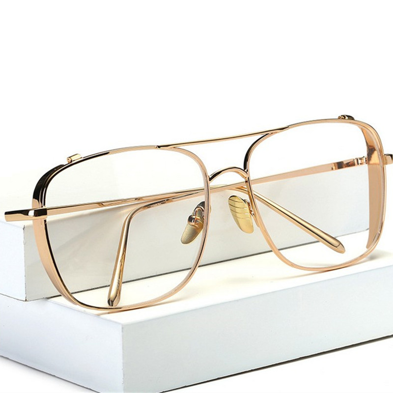 XojoX Optical  Alloy Glasses Frame Women Men Oversized Transparent Eyeglasses Frames Myopia Glasses Male Female Eyewear