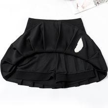 Плиссированная юбка с высокой талией и вышивкой в виде перьев