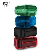 KZ ABS Смола Водонепроницаемая коробка ударопрочный защитный чехол портативный цветной портативный ящик для хранения чехол для KZ ZSN CCA C10
