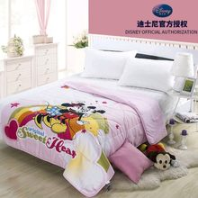 Disney Rainbow Bridge Mickey Minnie Mouse Teman-teman Musim Panas Selimut 150X200 Cm AC Selimut Tipis Bed Cover Anak hadiah(China)