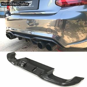 Image 3 - AK סגנון F87 M2 סיבי פחמן אחורי גוף ערכת פגוש שפתיים מפזר עבור BMW F87 M2 M2C 2014 2018 רכב סטיילינג