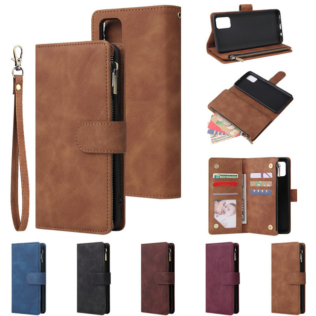 Rits Lederen Voor Samsung Galaxy A01 A11 A21 A41 A51 A71 A81 A91 A50 A30 A70 Case Magnetic Wallet Card flip Stand Phone Bag