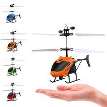 D715 Mini Helicopter Inductie Vliegtuigen Afstandsbediening RC Drone met Flash Light @ 88 NSV775 Afstandsbediening Speelgoed Helikopter