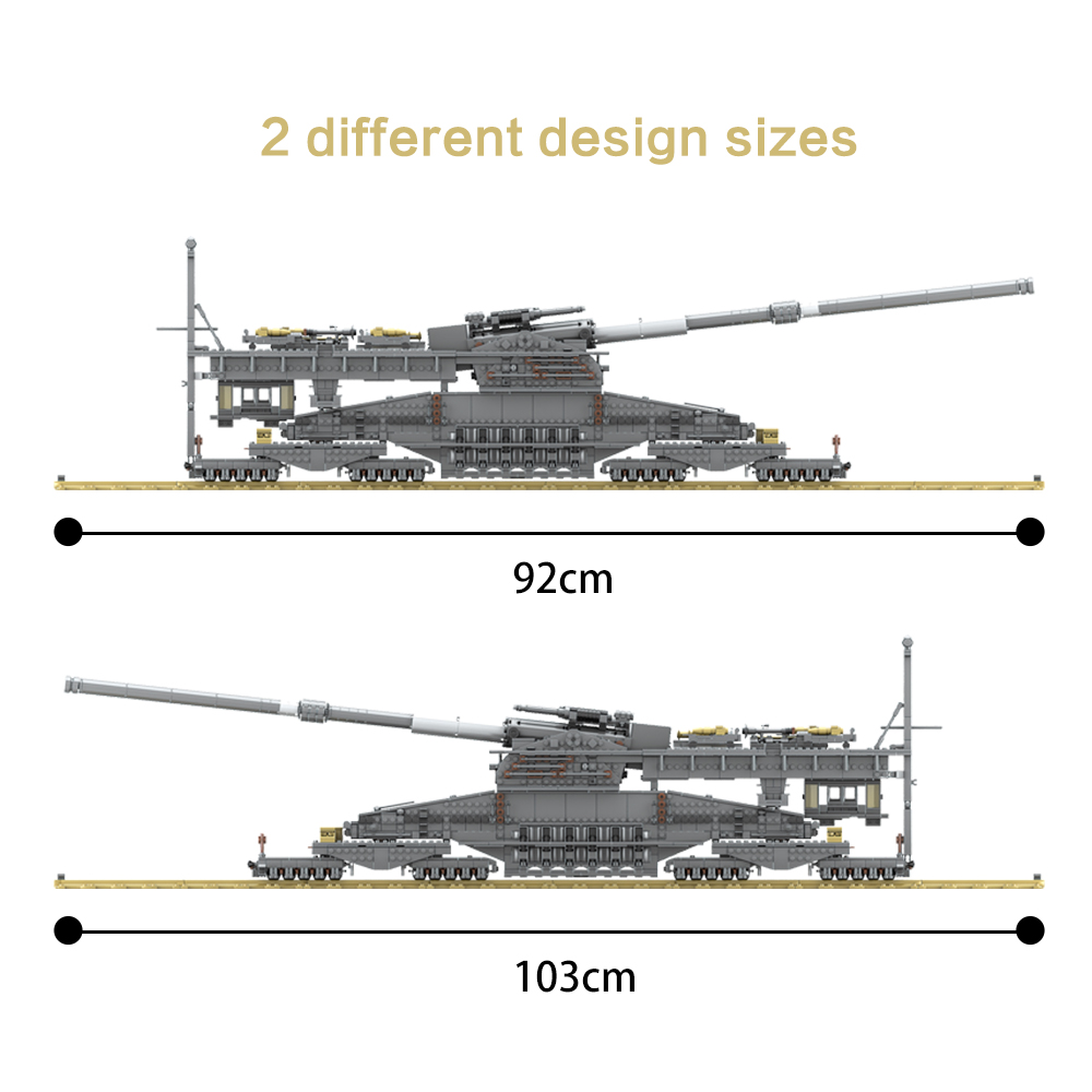 KAZI KY10005 3846 stücke Große Militärischen kampf legoes bausteine Deutschland 800 mm Schwere Gustav zug gun erwachsene kinder geschenk spielzeug - 4
