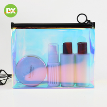 Transparent and Environmentally Friendly Laser Zipper Portable Plastic Waterproof Cosmetic Gift Storage Bag Organizer Beauty Kit