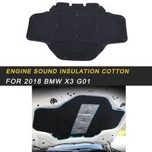 Для BMW X3 G01 X4 G02 Автомобильный капот двигатель брандмауэр коврик накладка Deadener интерьер тепло звукоизоляция хлопок