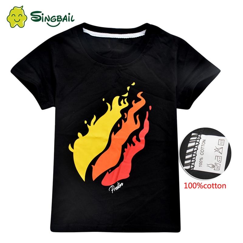 Summer T Shirt For Children Big Boys Girl PRESTONPLAYZ Colour 3d Printed  Preston Playz 2020 Tops Kids 5 To 12Y Grinch Clothes