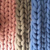 2x2m mão chunky malha cobertor grande macio quente inverno cama sofá cobertor grosso fio merino lã volumoso tricô cobertor