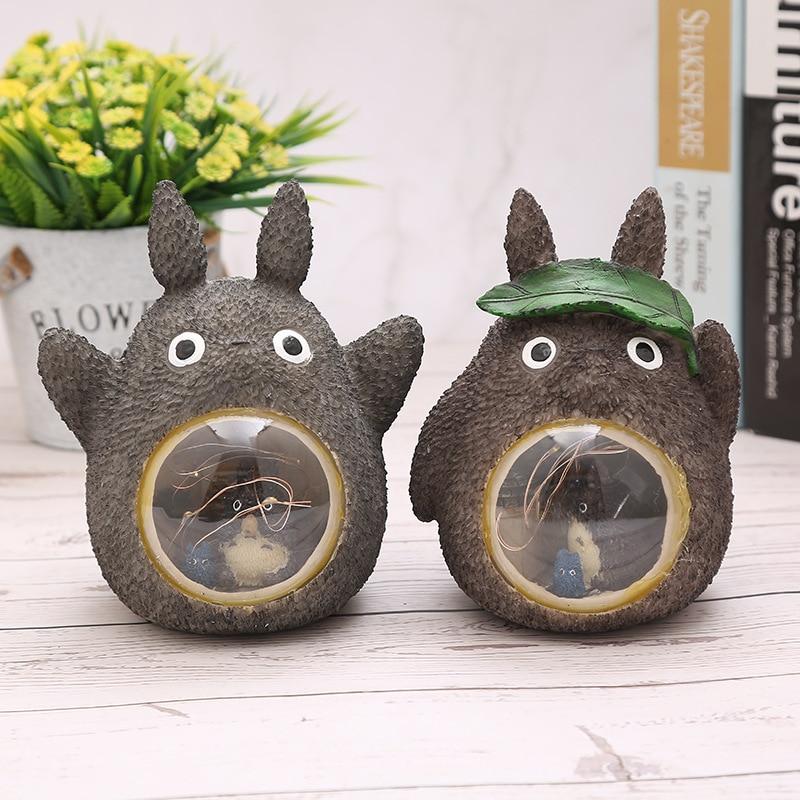 Studio Ghibli Spirited Away Totoro Figures Model Toy LED Night Light Toy Anime Totoro Star Resin Home Decoration Kids Toys Gift 2