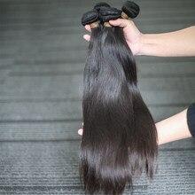Rosabeauty – mèches brésiliennes naturelles, cheveux vierges, lisses, couleur naturelle, 10a, 28 30 pouces, lot de 3 pièces, livraison gratuite