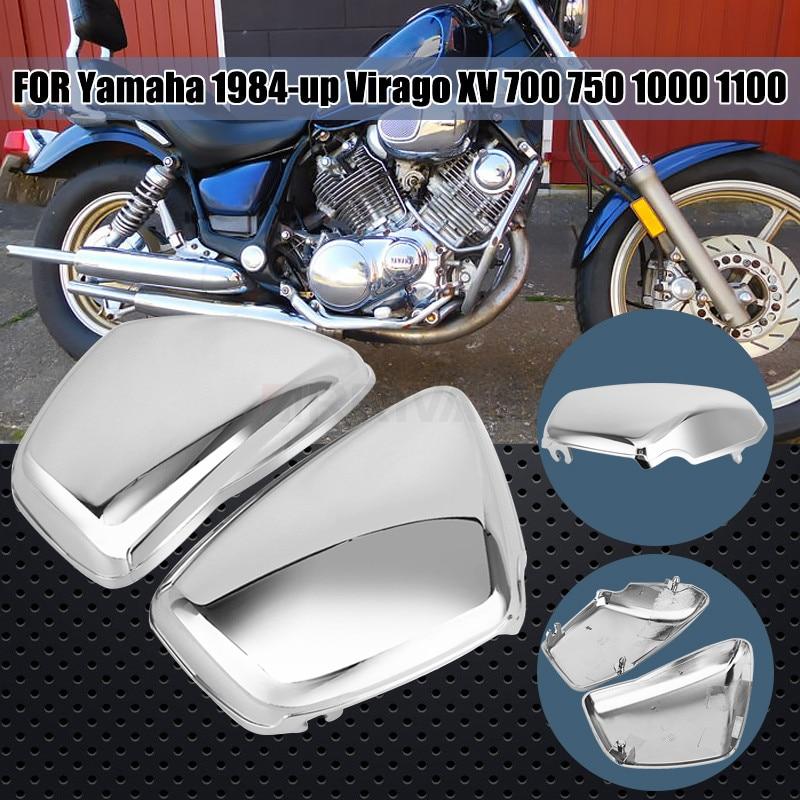 Обтекатель для аккумулятора Chrome Moto, левая и правая стороны, для Yamaha XV700 750 1000 1100 Virago 1984-Up, аксессуары для мотоциклов