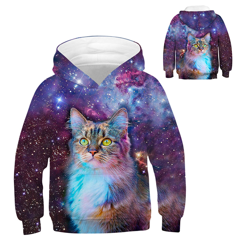 INPEPNOW Space 3D Print Astronaut Hoodies for Girl Sweat Shirt Cotton Clothes for Kids Hoodies for Boys Sweatshirt Pullovers 32 4