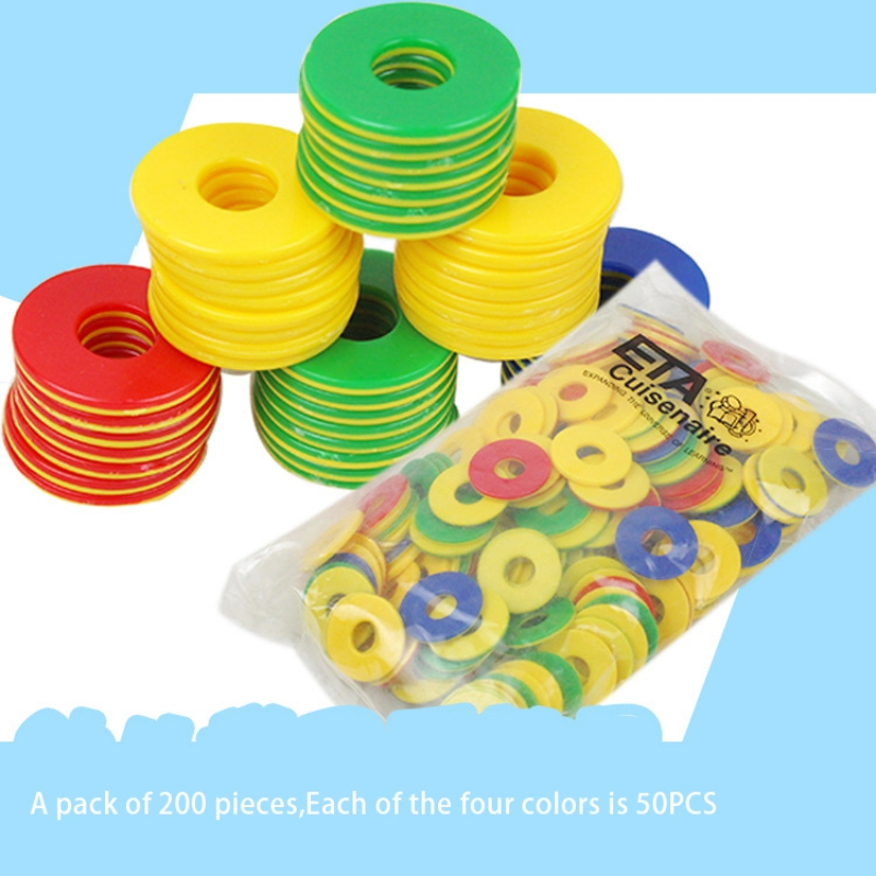 200Pcs Plastic Chip Coin Set Game Currency Kindergarten Children Learn Points Coins Counting Chips Toys