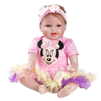 Soft Silicone Reborn Baby Doll Baby Doll Toy Girl 55CM Reborn Vinyl Girls Dolls ChildrenChristmas surprice gifts lol doll