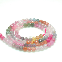 Natural multicolour Spinel 4mm Round Faceted Gemstone Beads for Jewelry Making Necklace Earring pendant 15inch ICNWAY
