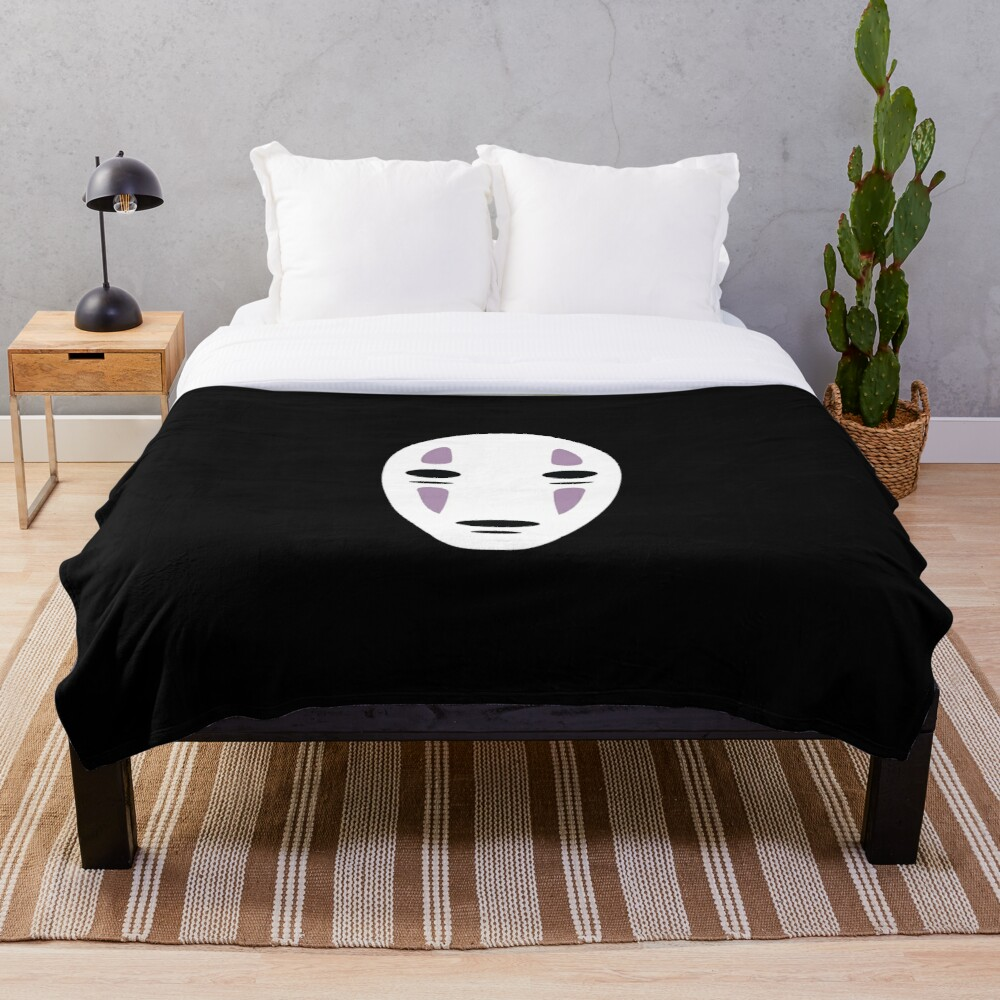 NO FACE CHIHIRO SPIRITED AWAY JOURNEY Throw Blanket Soft Sherpa Blanket Bed Sheet Single Knee Blanket Office Nap Blanket