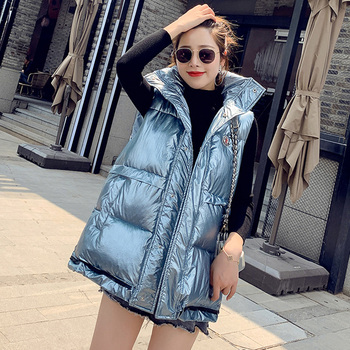 waistcoat loose Jackets Women Autumn Winter Sleeveless Casual Coats New 2020 Korean Style Vintage Thick Female Vest Coats new fashion women female korean short type long sleeve slim motor zipper leather jackets coats