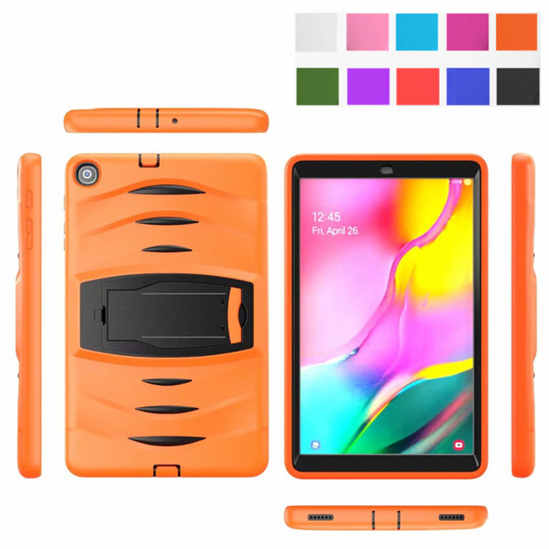 Tablet Shockproof Heavy Duty With Stand Hang Capa Case For Samsung Galaxy Tab A 10.1 2019 T510 T515 SM-T510 SM-T515 Cover Funda