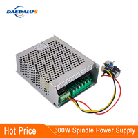 300 w cnc fonte de alimentação do eixo ar 220 v/110 v 220 v mach regulador de potência com controle de velocidade para 300 w máquina ferramenta eixo