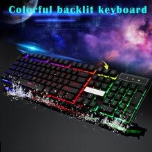 цена на Gaming Keyboard 104 Keys Mechanical Keyboard Fell Wired USB Keyboards RGB LED Backlit Overwatch LOL keys Anti-ghosting Luminous