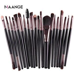 MAANGE 20 Pcs Makeup Brush Set Pro Eyeshadow Blending Foundation Powder Eyebrow Brush Double Head Brush Beauty Make Up Kits Tool