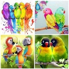 Huacan 5d Diy Diamond Painting Bird Mosaic Animal Handmade Gift Embroidery Parrot Diamond Art Home Decoration