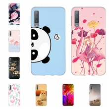 For Samsung Galaxy A3 A7 2018 Case TPU J1 2016 Cover Cat Patterned J2 Core Prime Coque