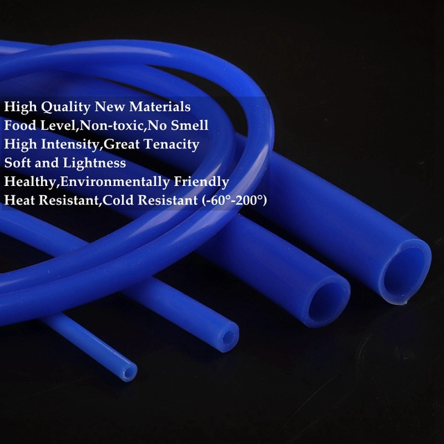 100cm I.D 2~32mm Heat Resistant Blue Silicone Hose Flexible Silica Gel Pipe Aquarium Air Pump Food Grade Beer Milk Soft Pipe