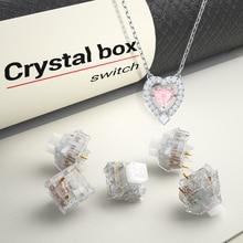 Kailh kryształowe pudełko przełącznik klawiatura mechaniczna diy RGB/SMD przełącznik dotykowy pyłoszczelna wodoodporna kompatybilna Cherry MX