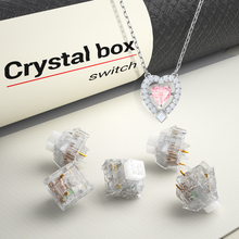 kailh Crystal box Switch Mechanical Keyboard diy RGB/SMD Tactile switch Dustproof  waterproof Compatible Cherry MX