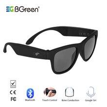 BGreen עצם הולכה Bluetooth חכם ספורט אוזניות משקפי שמש אלחוטי סטריאו אודיו משקפי שמש ספורט אוזניות אוזניות